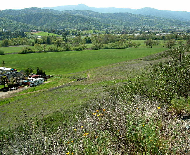 Calero Creek Trail from the Stile Ranch Trail