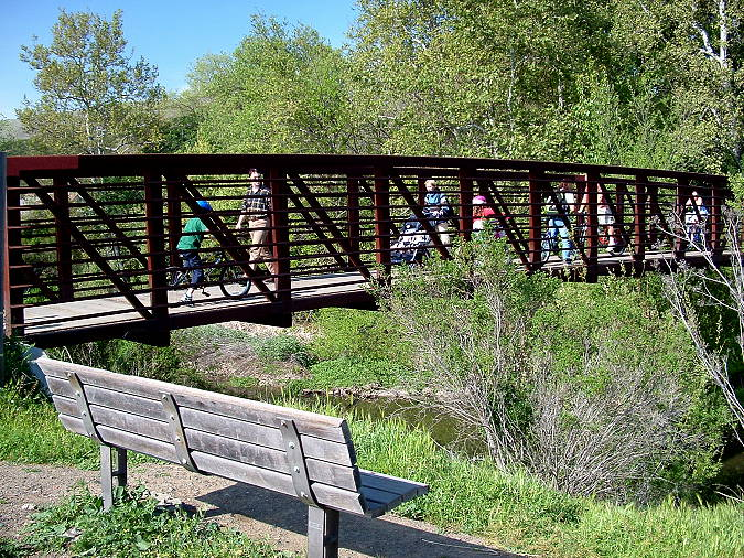 Bridge over Alamitos Creek