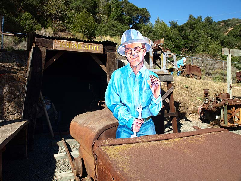 Outdoor mining museum displays