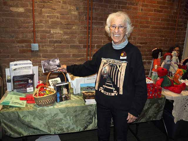 Kitty Monahan at the Quicksilver Holiday Boutique, 12/5/15