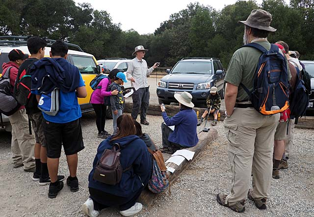 Geocaching class at the Wood Road entrance, 10/17/15