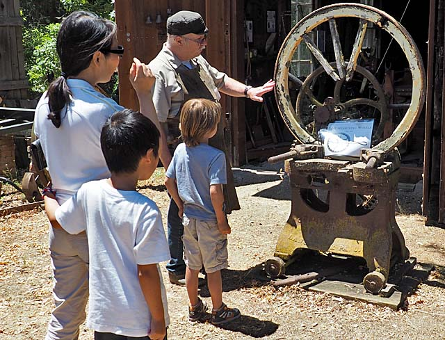 Chuck Ferrier at Living History Day, 7/2/16